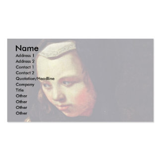 Allegory Of Hearing By Sweerts Michael Business Card Templates