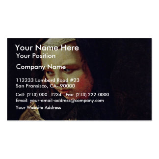 Allegory Of Hearing By Sweerts Michael Business Card Template