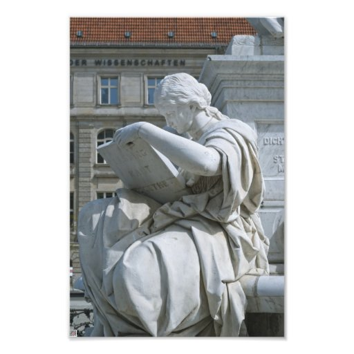 Allegory of History of Schiller Monument in Berlin Photo Art