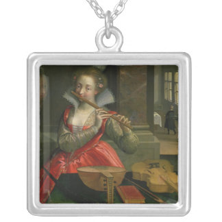 Allegory of Music , c.1600 Silver Plated Necklace