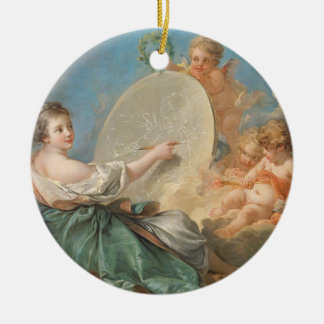 Allegory of Painting, 1765 (oil on canvas) Christmas Ornament
