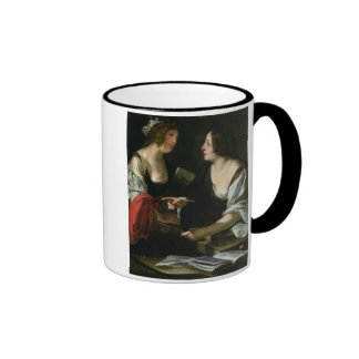 Allegory of Painting and Architecture c 1620 oil Mugs