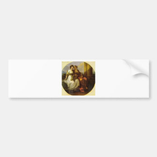 Allegory of poetry and music by Angelica Kauffman Bumper Sticker