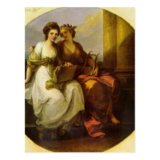 Allegory of poetry and music by Angelica Kauffman Postcard