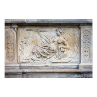 Allegory of Science Relief Photographic Print