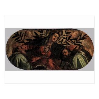 Allegory of Scuola della Misericordia Tintoretto Postcard