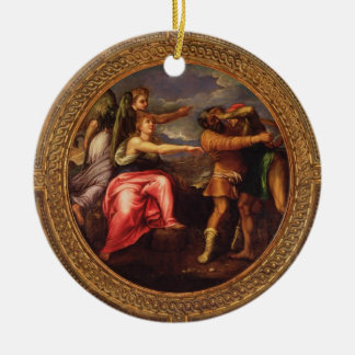 Allegory of Speed, Toil and Exercise, from the cei Round Ceramic Decoration
