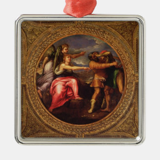 Allegory of Speed, Toil and Exercise, from the cei Silver-Colored Square Decoration