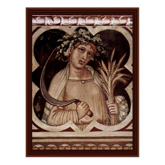 "Allegory Of Summer Medallion Of Good Government"" Postcard"