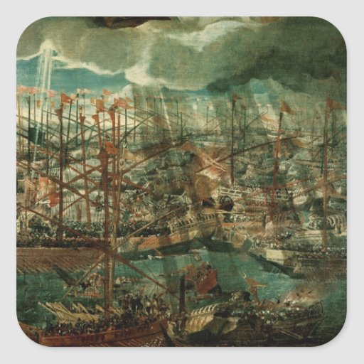 Allegory of the Battle of Lepanto Sticker