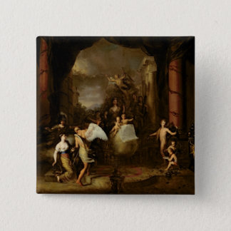 Allegory of the city of Amsterdam 15 Cm Square Badge