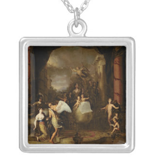 Allegory of the city of Amsterdam Silver Plated Necklace