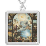 Allegory of the Creation of the Cosmos Silver Plated Necklace
