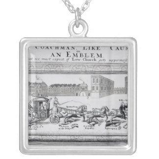 Allegory of the Dangers of Low Church Silver Plated Necklace
