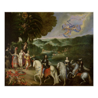 Allegory of the Marriage of Louis XIV  in 1631 Poster