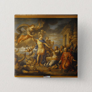 Allegory of the Peace of Aix-la-Chapelle, 1761 15 Cm Square Badge
