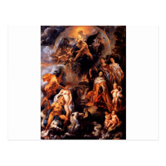 Allegory of the Peace of Westphalia Jacob Jordaens Postcard
