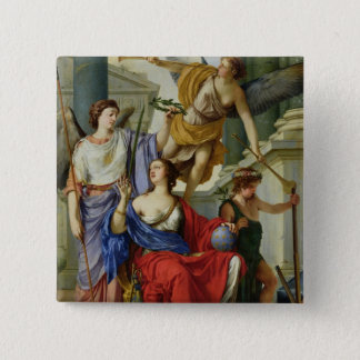 Allegory of the Regency of Anne of Austria  1648 15 Cm Square Badge