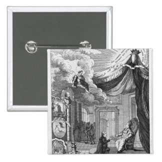 Allegory of the Report Given to Louis XVI 15 Cm Square Badge