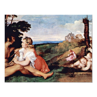 Allegory Of The Three Ages Of Man By Tizian 11 Cm X 14 Cm Invitation Card