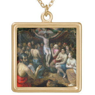Allegory of the Trinity (oil on panel) Pendant