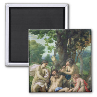 Allegory of the Vices, 1529-30 Square Magnet