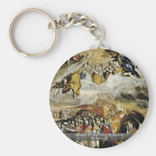 Allegory Of The Victory Of Lepanto By Greco El Keychains