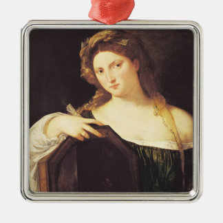Allegory of Vanity Silver-Colored Square Decoration