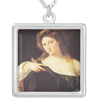 Allegory of Vanity Silver Plated Necklace