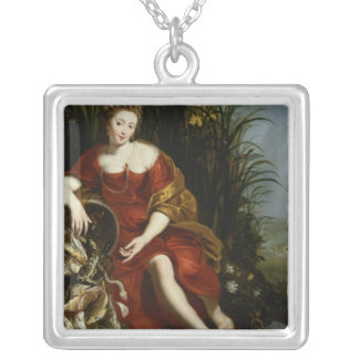 Allegory of Water Silver Plated Necklace