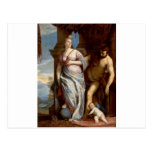 Allegory of Wisdom and Strength by Paolo Veronese Postcard