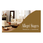Allegré Stagers Home Staging Interior Design Pack Of Standard Business Cards