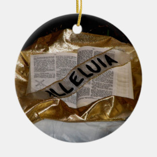 Alleluia (Bible & Sash) Christmas Ornament
