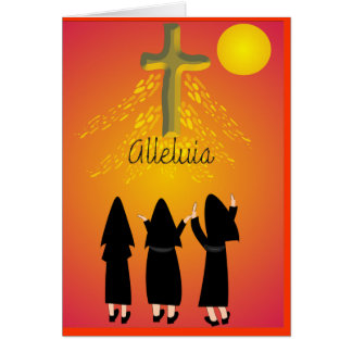 """Alleluia"" Catholic Religious Gifts Greeting Card"