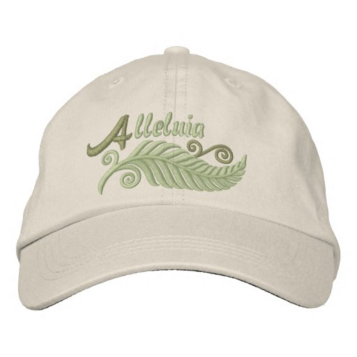 Alleluia Palm Embroidered Hats