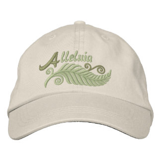 Alleluia Palm Embroidered Hat