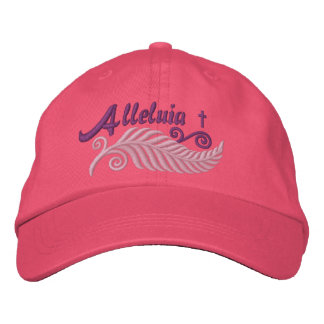 Alleluia Palm with Cross Embroidered Hat