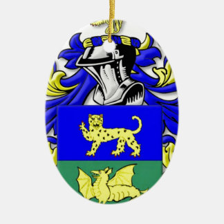 Alleman Coat of Arms Ceramic Oval Decoration