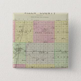 Allen County, Kansas 15 Cm Square Badge
