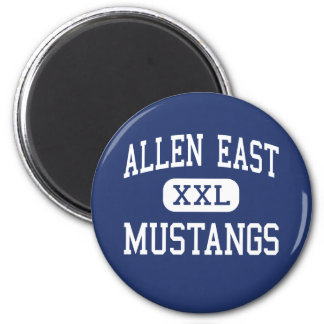 Allen East Mustangs Middle Harrod Ohio 6 Cm Round Magnet