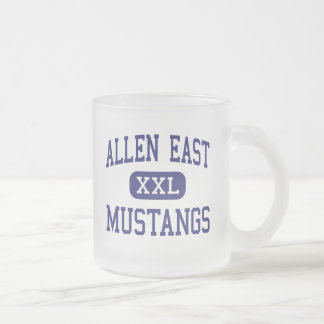 Allen East Mustangs Middle Harrod Ohio Frosted Glass Mug