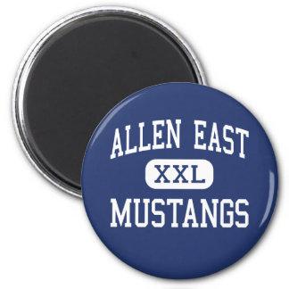 Allen East Mustangs Middle Harrod Ohio 6 Cm Round Magnet