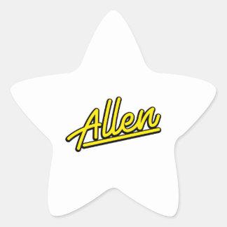 Allen in yellow star stickers