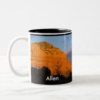 Allen on Moonrise Glowing Red Rock Mug