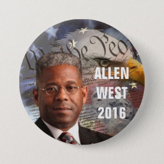 ALLEN WEST 2016 7.5 CM ROUND BADGE
