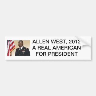 allen-west, ALLEN WEST, 2012A REAL AMERICAN FOR... Bumper Sticker
