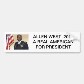 allen-west, ALLEN WEST  2012A REAL AMERICANFOR ... Bumper Sticker