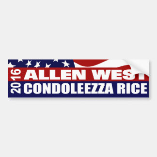 Allen West Condoleezza Rice 2016 Bumper Sticker