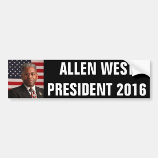 ALLEN WEST FOR PRESIDENT 2016 BUMPER STICKER
