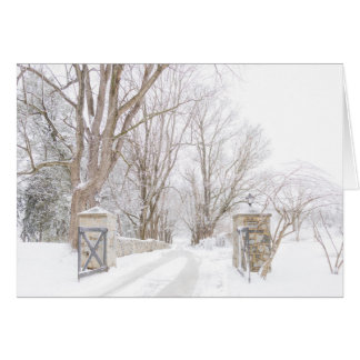 Allenberry Resort Entry in snow Card